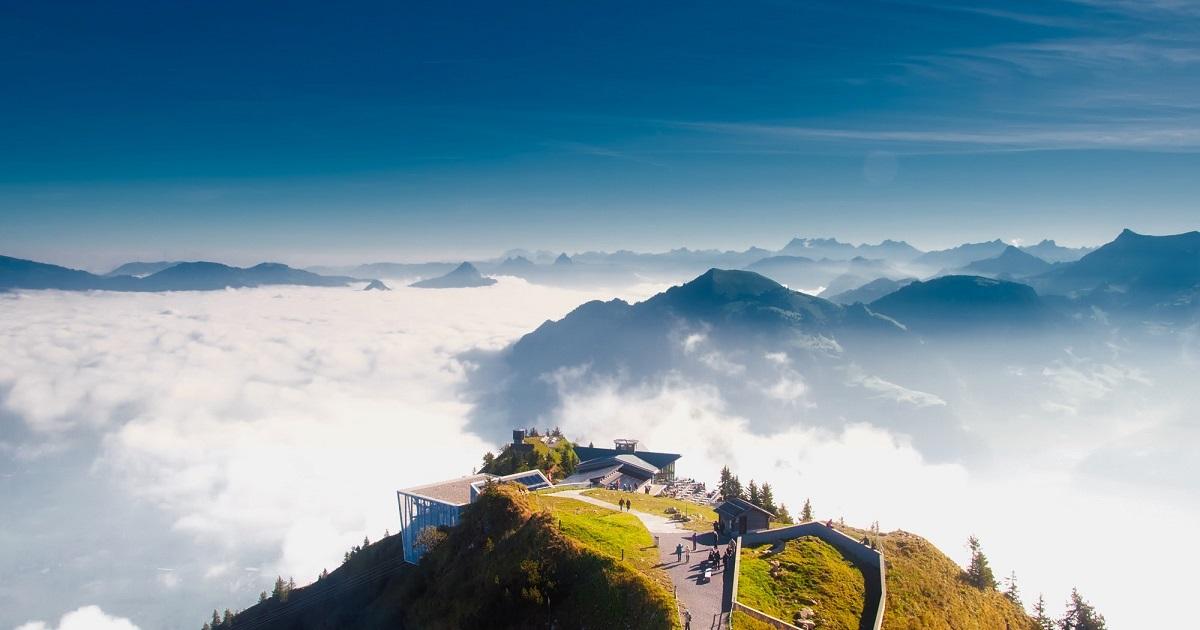 Bild von Bergen in der Schweiz